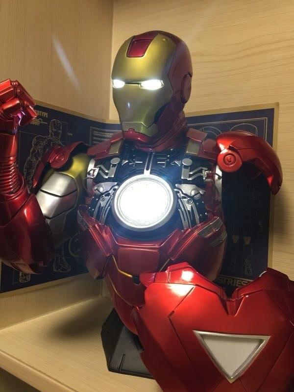 Бюст Железный Человек МК 6 Статуя Светодиодная Подсветка - h072204276ad8401597384552568bb3011