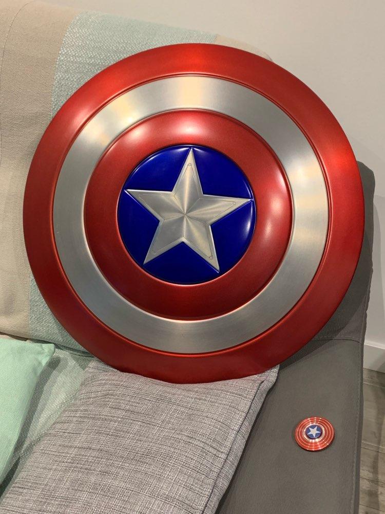 Щит Капитан Америка Большой 60 СМ Металлический - h3019485fe2104ebe9ee99327537a1770h