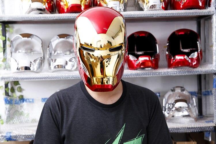Шлем Маска Железный Человек МК85 Светодиодный - h44e75b6cbca9421f8f0e44ba92fc987fr