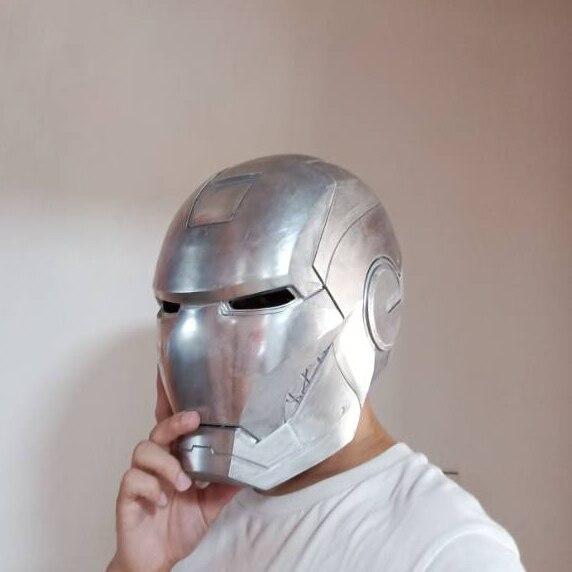 Шлем Железный Человек МК 3 Металл Сплав Подсветка - h4d69a710d0f54287b947954f63814daa5