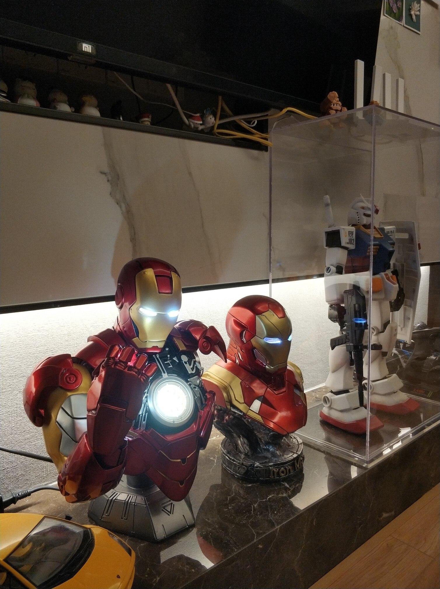 Бюст Железный Человек МК 6 Статуя Светодиодная Подсветка - h59220685024443af854cdaf1769bbdc9t