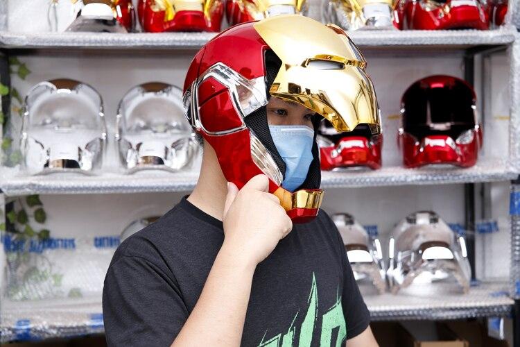 Шлем Маска Железный Человек МК85 Светодиодный - h76de41fba004448c9b9daf40d903a73d1