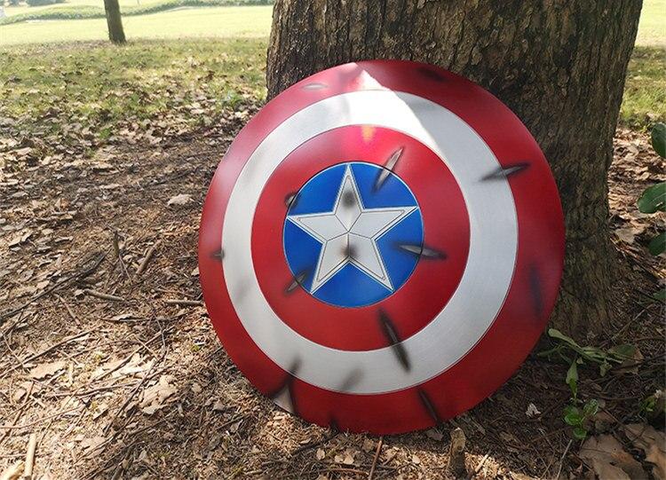 Щит Капитан Америка Повреждённый Металл 60 СМ - h800160d0990a4deb87da3829e902af3cc