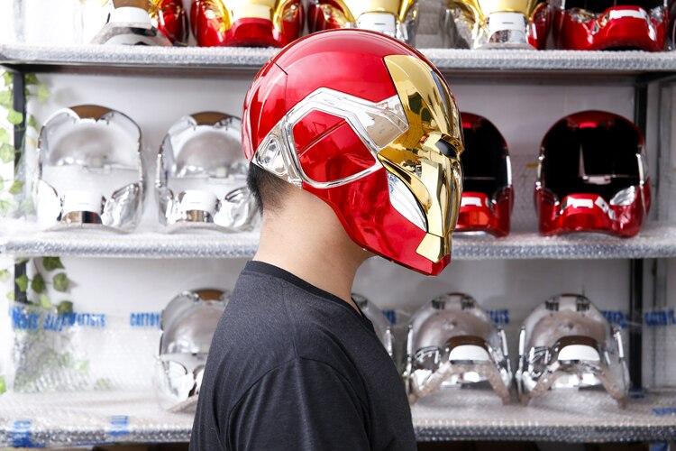 Шлем Маска Железный Человек МК85 Светодиодный - h93f0d336f94c40719777ee161d9ff1aas
