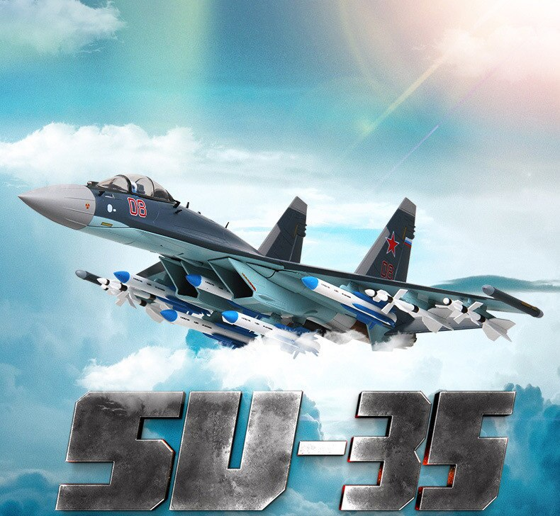 Фигурка Истребитель Россия Су-35 Подставка - h9ae7461ebcc240f9b72d8de74be01a11p