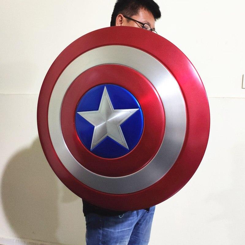 Щит Капитан Америка Большой 60 СМ Металлический - h9b0f7509974d40e9bc51c294a092a1430