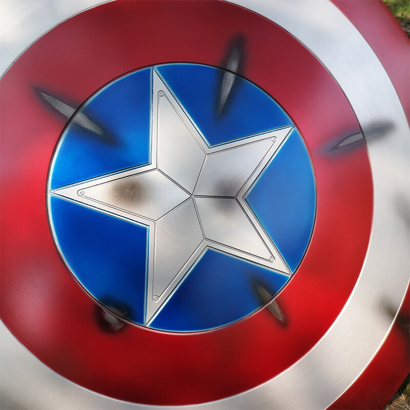 Щит Капитан Америка Повреждённый Металл 60 СМ - hd47a545b1cca41999b3c8e4da4b1dda8w