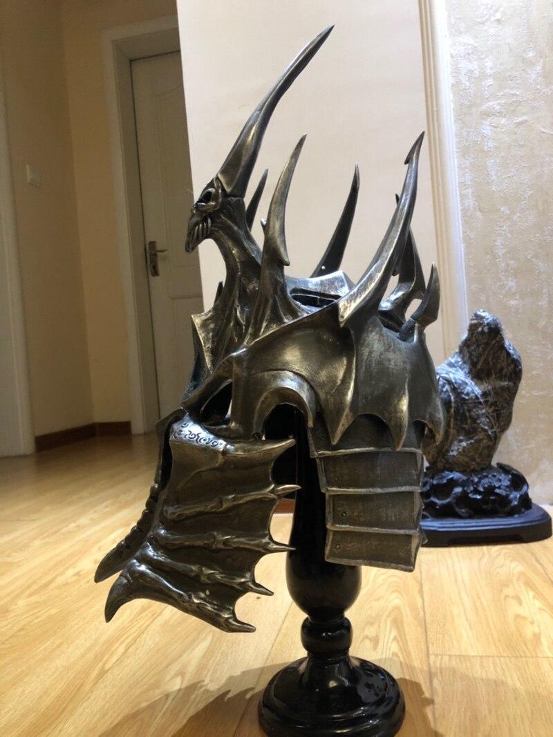 Шлем Король Лич 1:1 Подставка Коллекционный - hd9bb62778f7f48a3bdf7b467f43c053dh