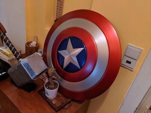 Щит Капитан Америка Большой 60 СМ Металлический - hdc4de82cb558495d812f794117c6dfcdk