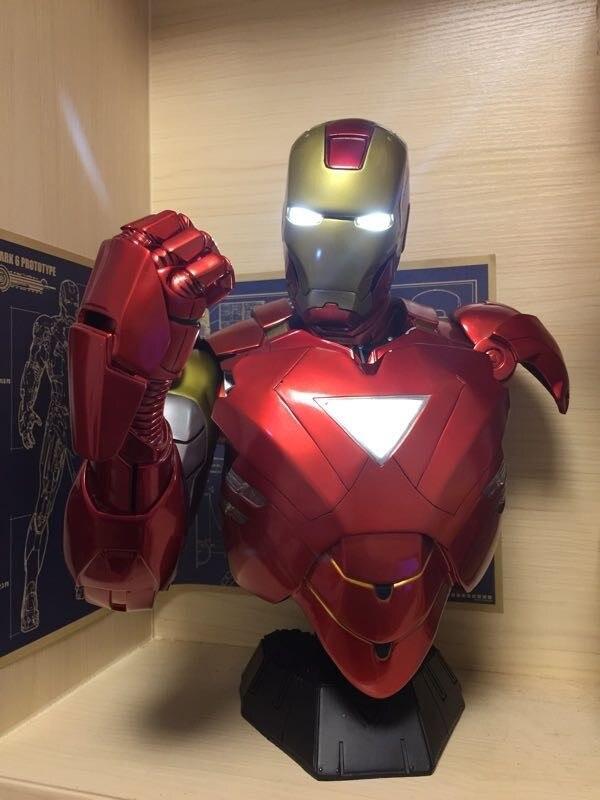 Бюст Железный Человек МК 6 Статуя Светодиодная Подсветка - hdefc65465b0d459f996c8a48d0bc4a16g