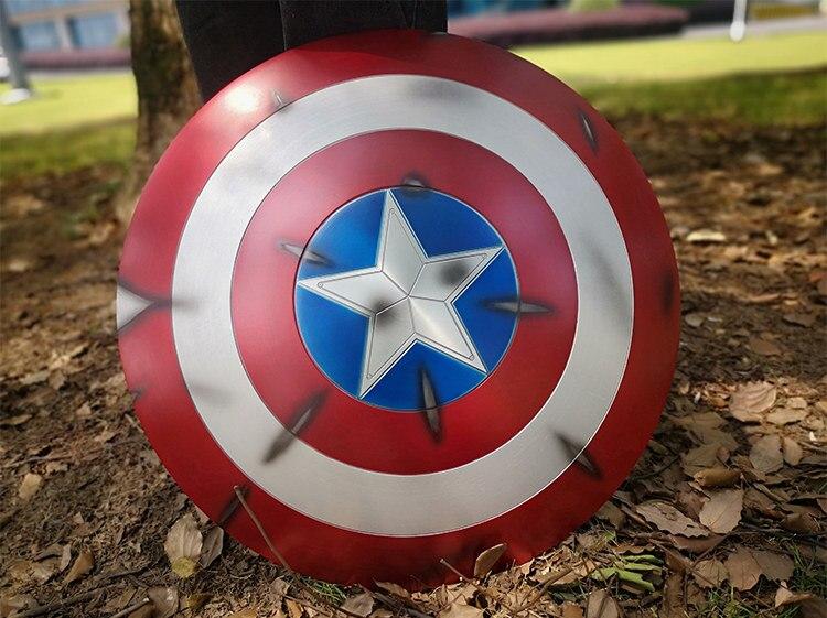 Щит Капитан Америка Повреждённый Металл 60 СМ - he18b408caec44971aec22f7b56a0f872p