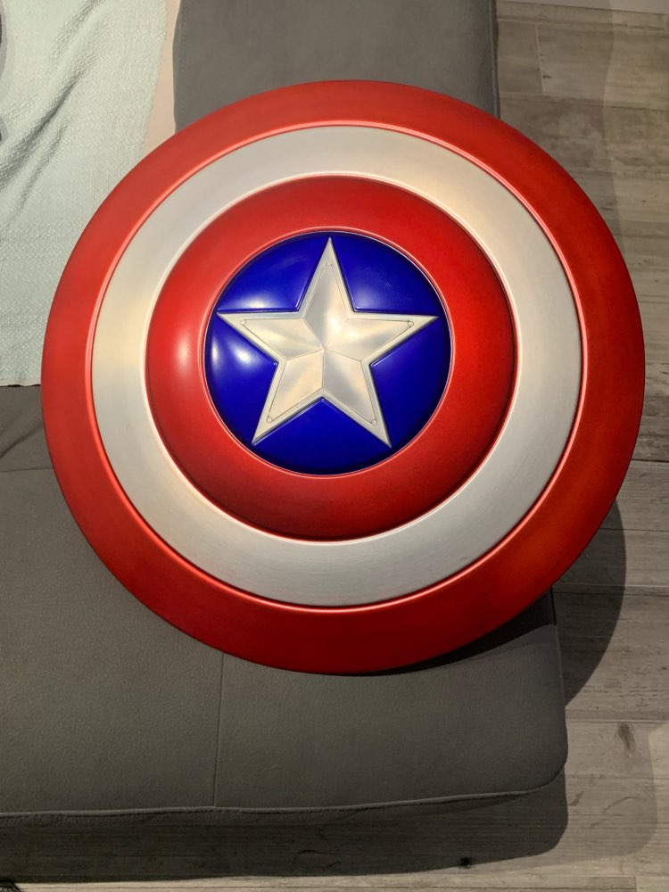 Щит Капитан Америка Большой 60 СМ Металлический - hf2dd17ee9a8d4e0f90ba9ac4a70c8afb6
