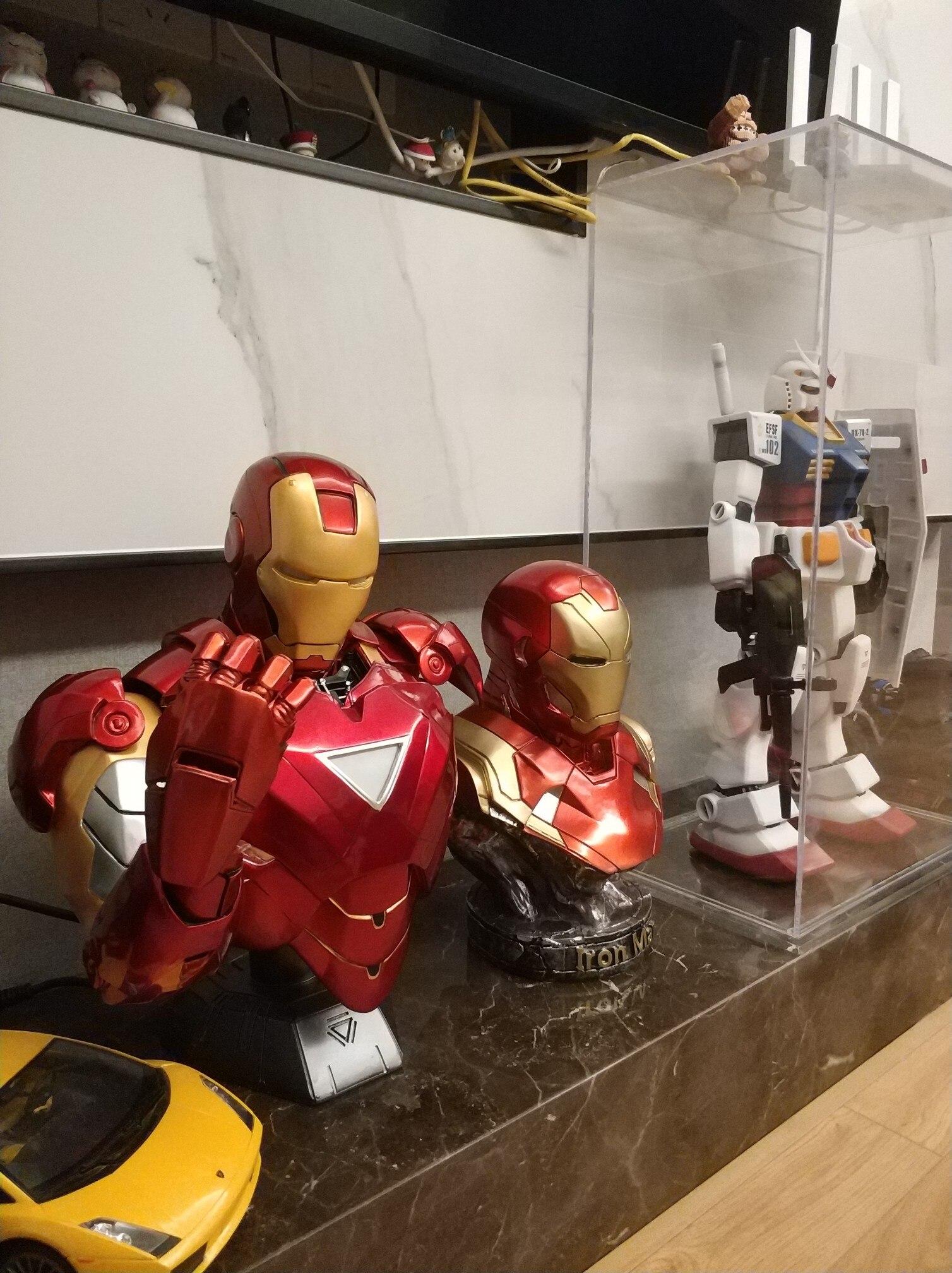 Бюст Железный Человек МК 6 Статуя Светодиодная Подсветка - hfc69582499034228b0907eac4f9e4e8cs