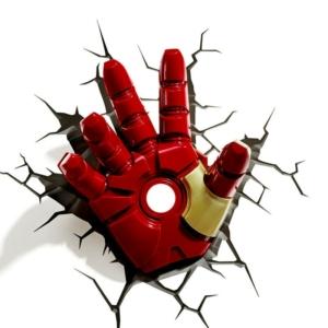 Светильник Железный Человек 3D Модель Перчатка Шлем - super hero