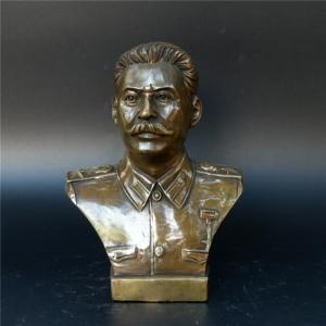 Статуэтка Бюст Сталин Вождь СССР Бронза - unnamed file 9