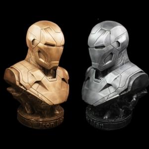 Бюст Железный Человек МК46 Золото Серебро - vip 36 mk46