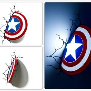 Светильник 3D Капитан Америка Щит Настенный - vip 5